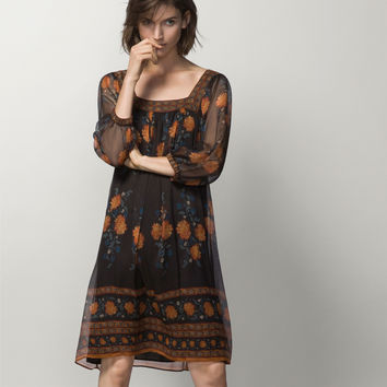 GAUZY 100% SILK DRESS - Dresses - WOMEN - Italy - Massimo Dutti