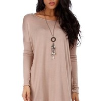 2LUV Women's Oversized Long Sleeve Tunic Dress
