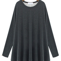 Casual Long Sleeve Pleated Bottoming Top