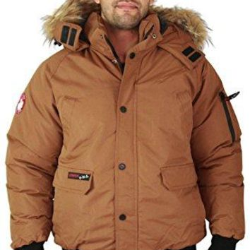 Canada Weather Gear Men's Faux Goose Down Bomber Jacket Coat  canada goose men bomber