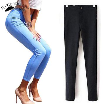 Jeans Woman Trousers Black High Waist Jeans For Women 2017 Skinny Mom White Women Jeans Female Push Up Femme Stretch Denim Pants