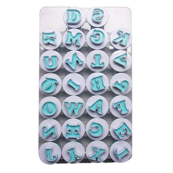 26 Letter Case Alphabet Letter Number Cookie Biscuit Stamp Mold Cookie Cutters