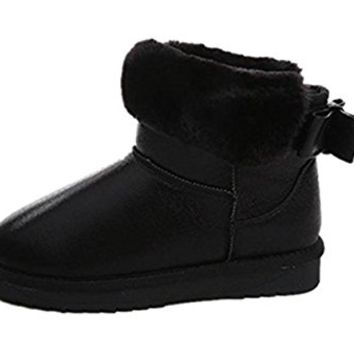YH Women's Cute Fashion Winter Snow Boots with Bowknot
