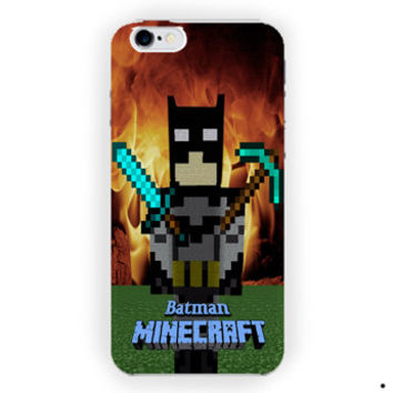 Batman Creeper Minecraft On Fire For iPhone 6 / 6 Plus Case