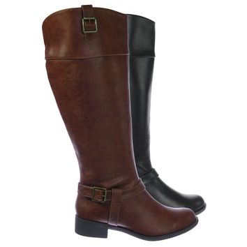 MicaW Womens Wide Calf Riding Boots