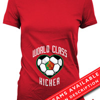 Soccer Pregnancy Announcement T Shirt Gifts For Expecting Moms Soccer Shirts For Mom Pregnancy Reveal Portugal Soccer Fan Ladies Tee MD-647