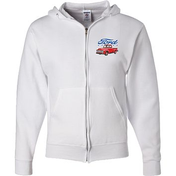 Ford Truck Full Zip Hoodie FoMoCo Pocket Print