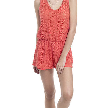 Tropicali Crochet Lace Sleeveless Romper