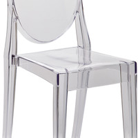 Victoria Ghost Side Chair Clear