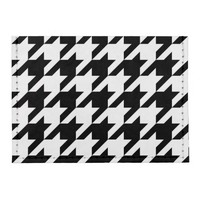 Houndstooth Pattern Black and White