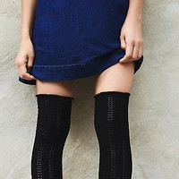 Free People Womens Fray II Pointelle Over the Knee Sock