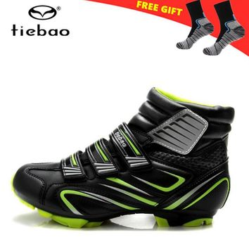 Tiebao Cycling Shoes For Women sneakers Men Winter Cycle Cycling Sapatilha Ciclismo MTB bike Self-locking Shoes Bicycle Boots