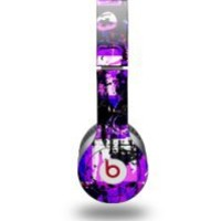My Associates Store - Purple Graffiti Decal Style Skin (fits Beats Solo HD Headphones)