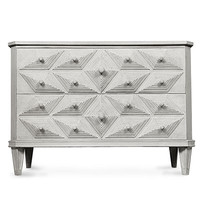 Giza Dresser - White Weathered - FURNITURE - Chests and Dressers