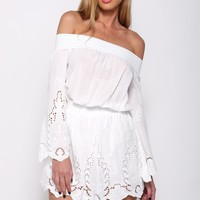 Latch Onto You Playsuit White