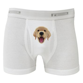 Cute Golden Retriever Puppy Face Boxer Briefs