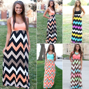 Hot NEW Sexy Women Summer Long Maxi BOHO Evening Party Dress Beach Dresses Sundress