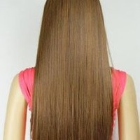 "Straight or Curly 3/4 Full Head Clip in Remy Hair Extensions One Piece 5 Clip Ins (Straight 23"", Light Auburn)"