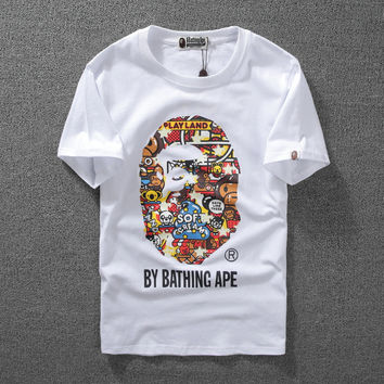 Good Quality Bape Summer Unisex Short Tee
