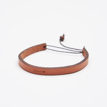 Free People All In A Word Leather Bracelet