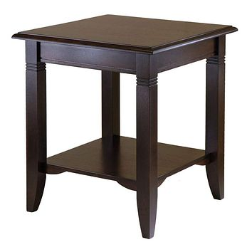 Winsome Wood Finely Carved Traditional Nolan Wooden End Table
