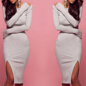 Sexy bodycon Long-sleeved dress
