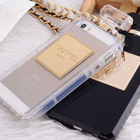 Fashion chain Perfume bottle style iphone 6 iphone 4/4s iphone 5/5s iphone 5C case Samsung Galaxy s3/s4/s5 case Samsung note 2/note 3 case