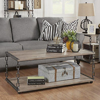 HomeVance Jessa Chain Detail Coffee Table
