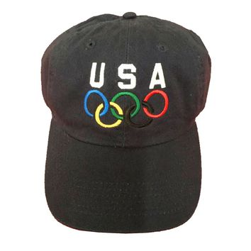 """Vintage USA Olympic Dad Hat """"Navy"""""""