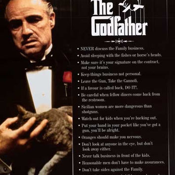 The Godfather Everything I Learned Movie Poster 24x36