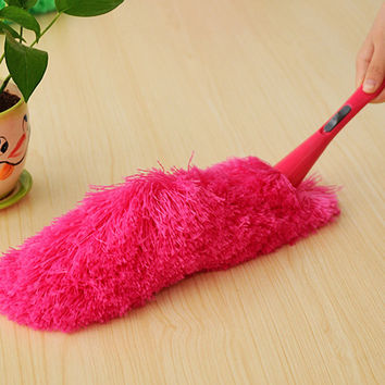 New Soft Microfiber Cleaning Duster Dust Cleaner Handle Feather Static Anti Magic