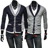 Mens Slim Hip Cardigan Sweater