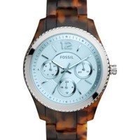 Fossil Women's Stella Tort Acetate Bracelet Watch 40mm ES4016 | macys.com