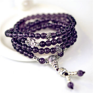 Purple Crystal Bracelet Rosantica Long Bracelet
