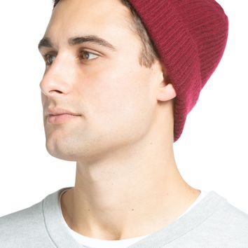 Men's 100% Pure Cashmere Ribbed Hat