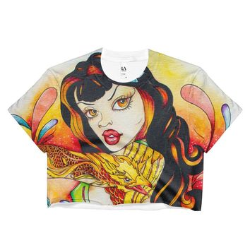 Pin Up Art - Ladies Crop Top - Signature Prints for Women