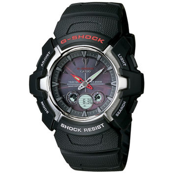 Casio GW1500A-1A Men's G-Shock Ana-Digi Though Solar Black Dial Rubber Strap Atomic Watch