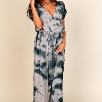 I'm Tie-Dyeing Over You Maxi Grey/Black