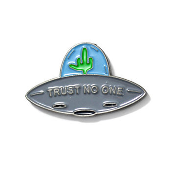 Trust No One UFO Lapel Pin