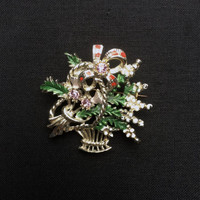 Exquisite Signed Brooch - Scottish Souvenir Series - Thistle Brooch - Vintage 1960's Pin - Signed Costume Jewellery