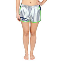 Seattle Seahawks Official NFL Womens Pinstripe Shorts