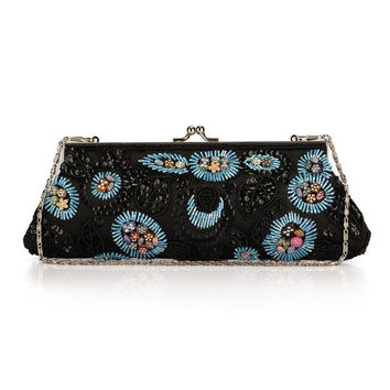 Ethnic Beaded Embroidery Evening Bag Day Clutches Bridal Clutch Bag Wedding Vintage Cheongsam Bag Banquet Purse Handbags XA272C