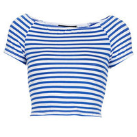 Tall Stripe Bardot Crop
