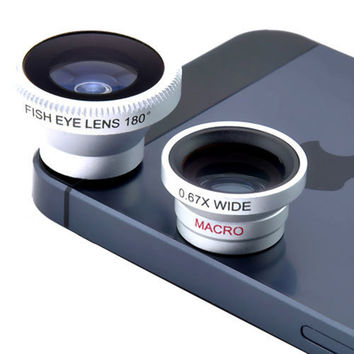 Universal Magnetic FishEye/Wide/Macro Lens - Iphone 5/5s/6