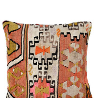 "16"" Kilim Pillow, Painted Palace"