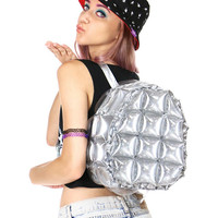 SILVER BUBBLE BACKPACK