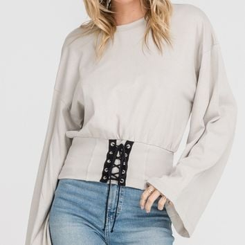 Lace Up Waist Top