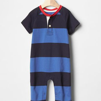 Rugby Stripe Baseball Tee One Piece