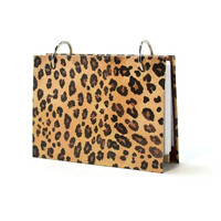 3 x 5 index card binder, leopard print, animal print, animal skin, writing journal, gift for her
