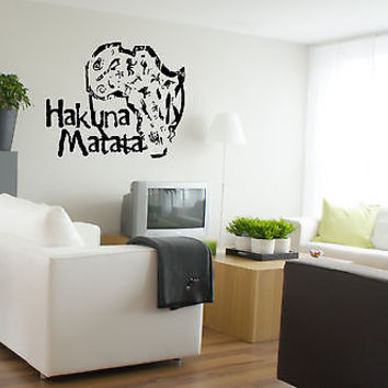 Wall Vinyl Sticker Decals Art Mural Hakuna Matata Words AL439